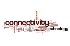 Connectivity word cloud concept Piirros
