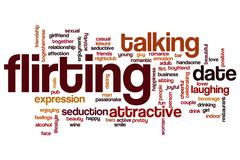 Flirting word cloud concept Stock Illustration