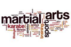 Martial arts word cloud concept Stock Illustration