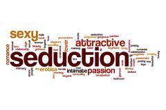 Seduction word cloud concept Stock Illustration
