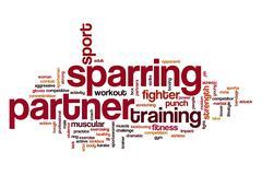 Sparring partner word cloud concept Stock Illustration