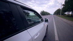 Car driving. On board camera Stock Footage
