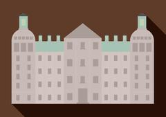 Palace berlin architecture building . Germany. Vector graphic Stock Illustration