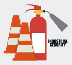 Extinguisher cone icon.Industrial. Vector graphic - stock illustration
