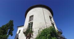 The Masino Castle, a FAI property (Italian Environment Fund), Italy Stock Footage