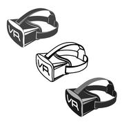 Virtual 3d reality goggles Stock Illustration