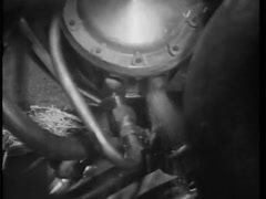 Fuel leaking from pump in car engine, 1960s Stock Footage