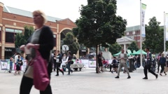 Coventry cathedral lanes shopping Stock Footage