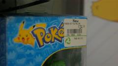 Pokemon Action Figure Price Store Merchandise Closeup Stock Footage