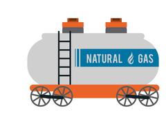 natural Gas Truck icon - stock illustration