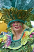 Bath, United Kingdom - August 25, 2012 Carnival Parade - stock photo