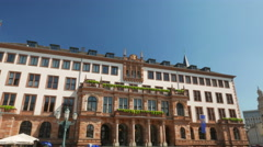 4K Marktkirche Market Church Government building in old Town Wiesbaden Hessen Stock Footage