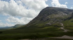 Timelapse over glencoe and buchaille etive mor Stock Footage