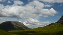 Timelapse over glencoe and rannoch moor Stock Footage