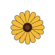 Flower garden floral nature plant icon. Vector graphic Stock Illustration