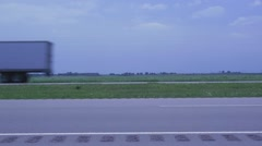 Cars on an American Highway Stock Footage