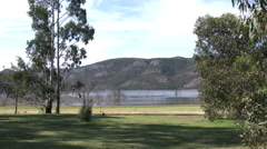 Australia children by lake in the Grampians Stock Footage