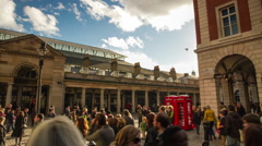 Crowded street in Covent Garden, London Stock Footage