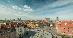 View of the Castle Square in Warsaw Stock Footage