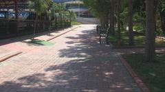 Promenade walkway outside the hotel Stock Footage
