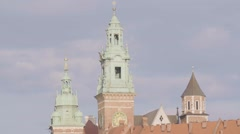 Bell tower of the Wawel Cathedral in Krakow Stock Footage