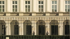 Presidential Palace in Warsaw Stock Footage