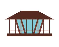 Pier or dock icon Stock Illustration