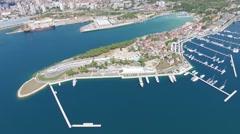 Aerial view of Sibenik in Croatia Stock Footage