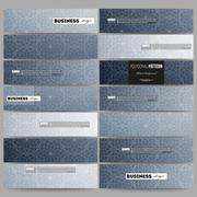 Banners set. Abstract floral business background, modern stylish vector texture Stock Illustration