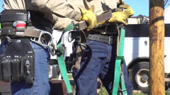 Tool Belt Construction Stock Footage