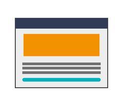 Single webpage icon Stock Illustration
