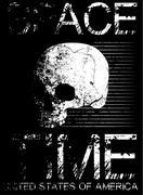 Skull T shirt Graphic Design Stock Illustration