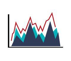 graph chart icon - stock illustration