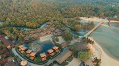 Aerial view of koh payam island ranong province andaman sea southern of thailand Stock Footage