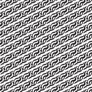 Seamless abstract pattern. Monochrome graphic background line curve. Stock Illustration