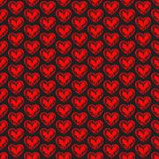 Seamless background with hearts. Love art. Romantic design. Stock Illustration