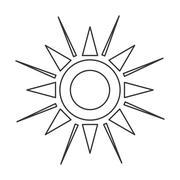 Geometrical sun representation icon Stock Illustration