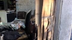 Deceased Person's Abandoned Slum 4K - stock footage