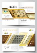 Business templates for brochure, magazine, flyer, booklet or annual report - stock illustration