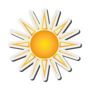 Geometric sun representation icon Stock Illustration