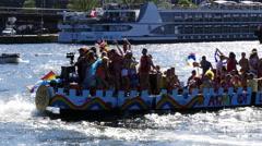 Gay pride boat - stock footage
