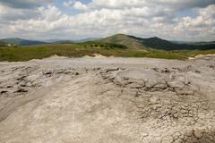 Muddy Volcanoes Reservation in Romania - Buzau - Berca Stock Photos