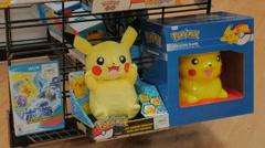 Pokemon Pikachu Memorabilia Display Store Merchandise 4 Stock Footage