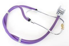stethoscope isolated on white background, medicine concept nobody - stock photo