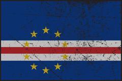 Cape Verde Flag Grunged Stock Illustration