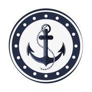 Classic anchor emblem icon Stock Illustration