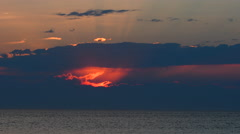 Vivid Sunset over a calm Balti Sea Stock Footage