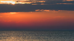 4K Timelapse of a Vivid Sunset over a calm Balti Sea Stock Footage