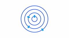 Loading screen circular, blue on white background - 4k 30fps loop - video tex Stock Footage