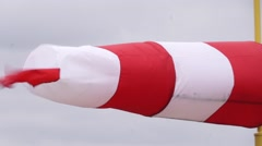 Windsock against sky - stock footage